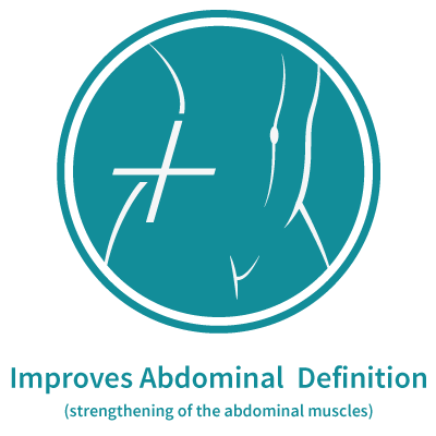 Emsculpt Illustration: Improves Abdominal Tone (Strengthening of the abdominal muscle)