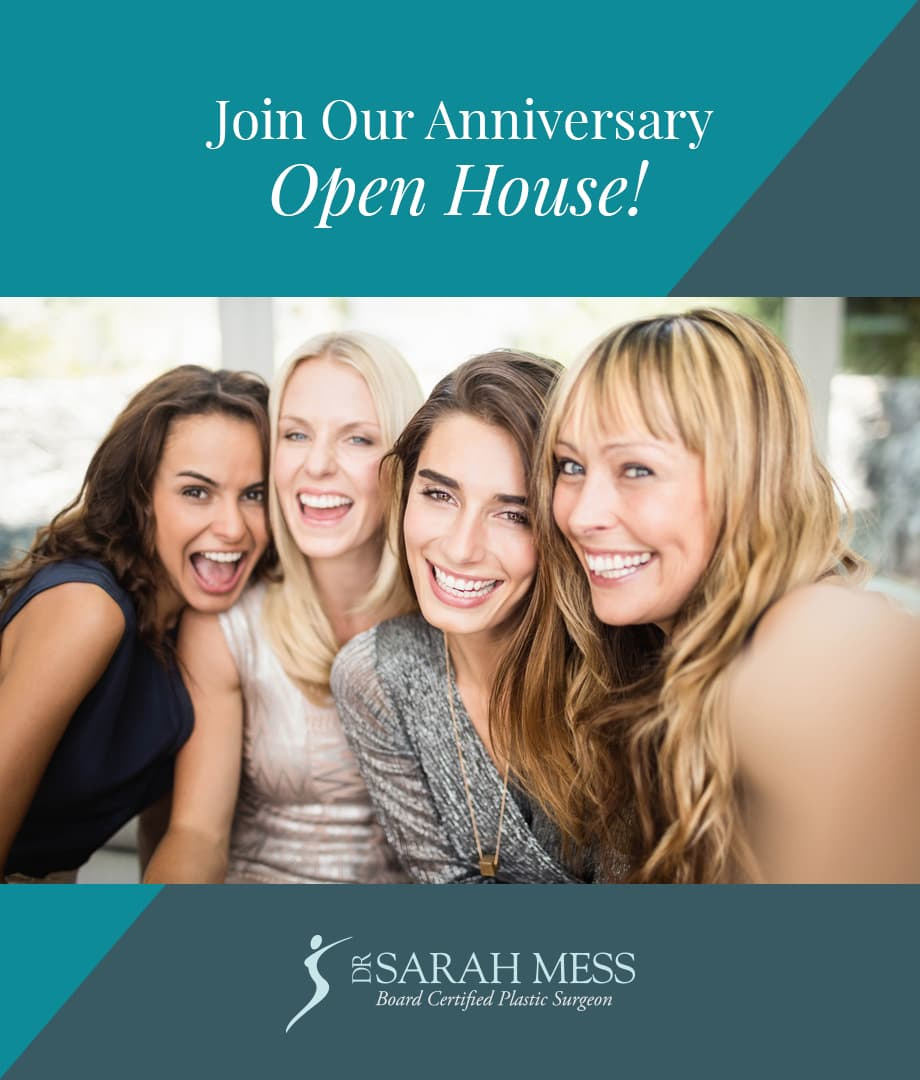 Join our open house at Dr. Sarah Mess: Picture of open house invitation